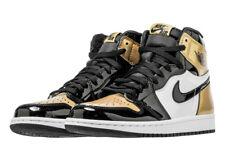 2018 Nike Air Jordan 1 Retro High OG NRG SZ 11.5 Gold Toe White Black 861428-007