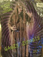 Gauze Zombie *New* 4-Piece Halloween Costume; Fits up to 200 lbs