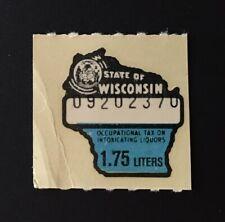 Wisconsin State Revenue, 1.75 liters Liquor Tax Stamp #L174, Mnh - Wi
