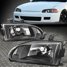 For 92-95 Honda Civic Eg Ej Eh Blackclear Oe Style Replacement Headlight Lamps