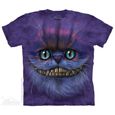 The Mountain Unisex Big Face Cheshire Cat T-shirt - Alice in Wonderland Adult Large