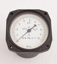 National Instrument Laboratories FM-2-7 N2 Gas Gauge Steampunk (B4L-7) STD 4 H2O