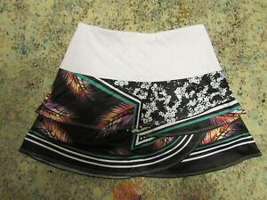 LUCKY IN LOVE Women's WHITE Multicolored Tennis Skirt/Skort - Size Small (4-6)