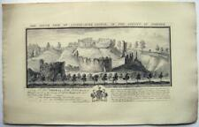 CASTLES BUCKS ANIQUITIES SAMUEL BUCK ENGRAVING CASTLE-ACRE NORFOLK 1738