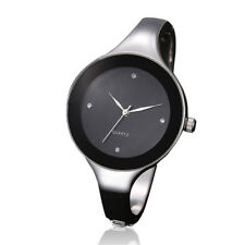 Women's Luxury Crystal Stainless Steel Quartz Wrist Watch Waterproof Black Tide