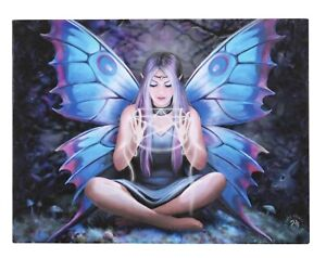 Spell Weaver Canvas Plaque By Anne Stokes. Size 25 X 19 CM