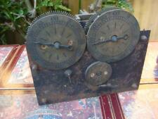 Antique  Double Clock Movement With Twin Dial For  Restoration or spare / Repair