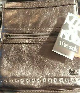 The Sak Leather Purse In Gold Metal Color, Retails for $89