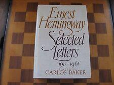 Ernest Hemingway- Selected Letters 1917-1961-Hardcover-Scribners-1987