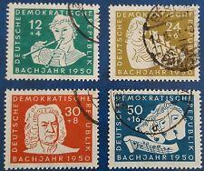 DDR 200. Todestag von Bach Mi-Nr. 256/59 gestempelt