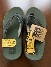 Reef Men's Fanning Olive/Black  Size 7