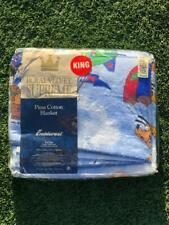 Deadstock Nwt Vtg 90s Fieldcrest Mickey Mouse Clubhouse Pima Blanket King