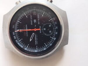 Vintage Seiko Time Sonar Zero 7018-6000 Chronograph Automatic 1970s