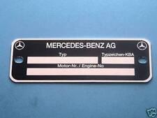 Motorschild Mercedes 190 SL Ponton W 108,109, 110 W 111, 112, 113, 114, 115