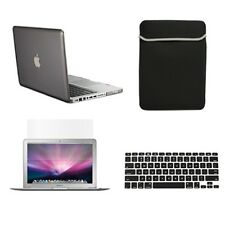 "4 in1 Rubberized GREY Case for Macbook PRO15"" Retina+ Key Cover+ LCD +Sleeve Bag"