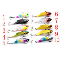 VIB sinking Fishing Lure 5.5cm/10g Fish Hook Wobbler Tackle Crankbait Hard BaiDD