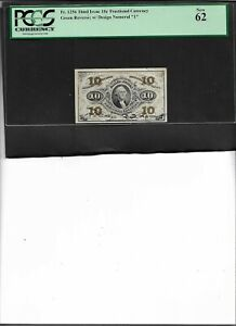FRACTIONAL CURRENCY Fr. 1256 THIRD ISSUE 10c New 62
