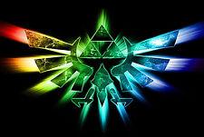 Framed Print - Zelda Triforce Eagle in Colour (Picture Poster Art Game Gaming)