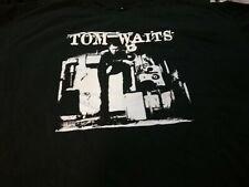 Tom Waits Black White 2 Stich Shirt No Tag Xxl Nmnt Tear @ Tag Base Rare Htf Vtg