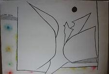 Joan GARDY-ARTIGAS ( MIRO ) - Très grand dessin original signé drawing dibujo **