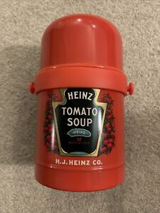 Heinz Tomato Soup Hot Food Thermos Flask Screw Top Lid Travel Steel Lunch 650ml