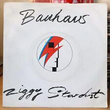 "Bauhaus - Ziggy Stardust & Third Uncle 7"" Vinyl Single 1982 VG Cond  Pic Sleeve"