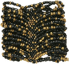 """Cuff Bracelet - """"Milan"""" - Beaded Stretch Style. Minor Color Variation Possible"""