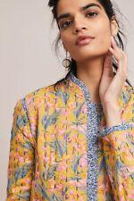 Anthropologie Waverly Quilted Jacket Yellow Floral Blazer Size: Medium M New