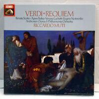SLS 5185  Verdi - Requiem - Muti HMV 2 LP box set  N/Mint vinyl