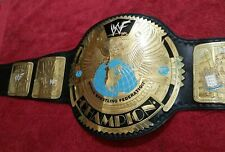 WWF World Heavyweight Champion Scratch Logo Belt Real Leather 2MM Plates Replica