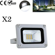 2X 10W LED Floodlight Outside Wall Light Security Flood Lights IP65 Cool White
