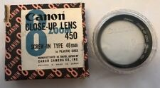 Autentico Vintage Canon 8 chiudere LENTE 450 Screw-in tipo 48 mm in scatola custodia in plastica