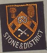 STONE & DISTRICT SCOUTS/GUIDES CLOTH BADGE MINT VINTAGE size approx 45mm x 45mm