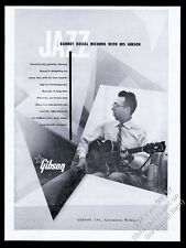 1954 Barney Kessel photo Gibson guitar vintage print ad