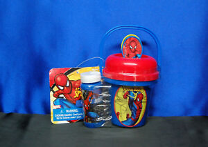 Spiderman Bubble Pail Spill Resistant Bubble Mini Bucket Free Shipping
