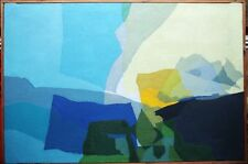 PETER L FIELD b1920 BRITISH ART OIL PAINTING ABSTRACT LANDSCAPE CORNISH c1960