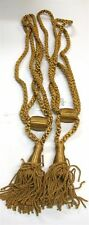 "(2) Conso Curtain Tiebacks ~ Gold ~ 36"" L / 5.5"" Tassel **NEW**"