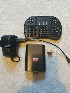 Raspberry pi 2 b with retro pi, wireless mini keyboard ,switched power supply.