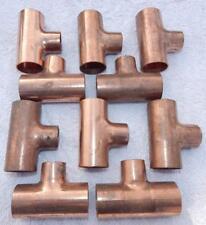 "New listing (10) Copper Reducing Tees 1C x 1C x 3/4C 1-1/8C x 1-1/8C x 7/8C ""New"" Ts1"