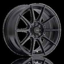 17X7 Advanti Racing Storm S1 4X100 +40 Matte Black Wheels (Set of 4)