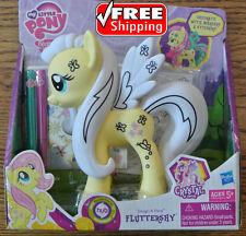 My Little Pony Frienship is Magic FLUTTERSHY Design-A-Pony Markers Stickers NIB