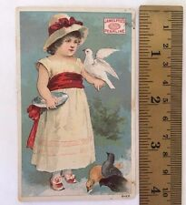 James Pyles Pearline Hand Soap Girl Feeding Birds Compound Victorian Trade Card