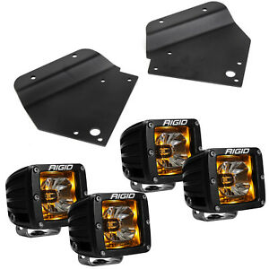 Rigid Radiance LED Fog Light w/ Amber Backlight for 10-14 Ford F150 Raptor SVT