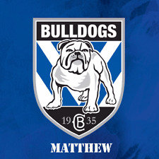CANTERBURY BULLDOGS NRL Cake Image Personalised Birthday Decoration Party Topper