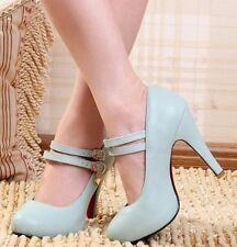 High (3 in. and Up) Block Pumps, Classics Solid Heels for Women