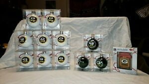 New Green Bay Packers NFL Christmas Tree Ornament with Team Logo New in Package