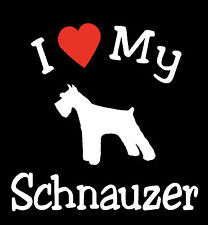 Pair of I Love My Dog SCHNAUZER Pet Car Decals Stickers Ready to Apply