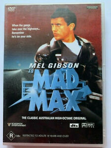 Mad Max, 1979, Scifi, Action, Mel Gibson, Region 4, Rated R, VGC, Free Post