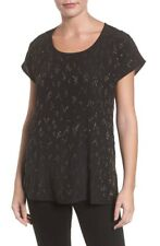EILEEN FISHER 400$ Beaded 100% Silk Top Blouse New With Tag Xl