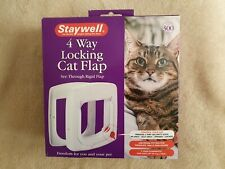 Staywell Cat Flap Door 4 Way Locking with Tunnel Upto 54mm Thick